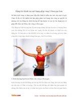 Động tác đánh tan mỡ bụng giúp vòng 2 thon gọn hơn