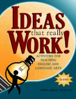 Ideas that really work activities for teaching english and language arts mantesh