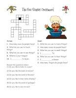 12836 the five senses crossword