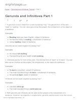 ENGLISH PAGE   gerunds and infinitives part 1