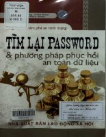 Tìm lại password và phương pháp phục hồi  an toàn dữ liệu  vũ đình cường chủ biên; phương lan hiệu đính