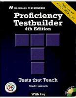 Proficiency testbuilder