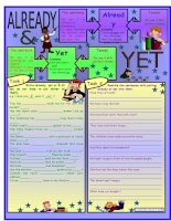 13243 already and yet  present perfect  with grammar  key  bw