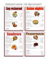 278 restaurant menu