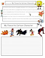 27336 creative writing my favorite cartoon character 5 a1 level