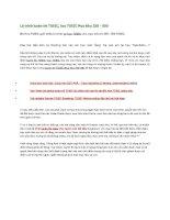 Lộ trình luyện thi TOEIC, học TOEIC mục tiêu 250   500