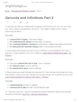ENGLISH PAGE   gerunds and infinitives part 2