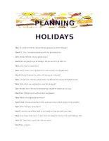 18738 conversation about planning holidays