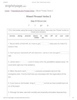 ENGLISH PAGE   mixed phrasal verbs 2