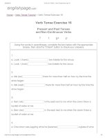 ENGLISH PAGE   verb tense exercise 16