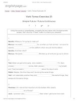 ENGLISH PAGE   verb tense exercise 23