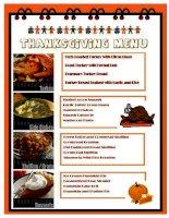 319 thanksgiving menu
