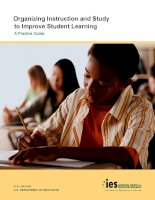 Organizing instruction and study to improve student learning a practical guide(1)