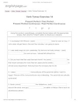 ENGLISH PAGE   verb tense exercise 14