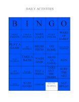 1903 daily activities bingo