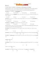 Bộ đề thi thử THPT quốc gia năm 2017 môn tiếng anh- đề số 12