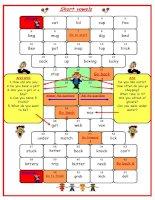 5450 short vowel board game
