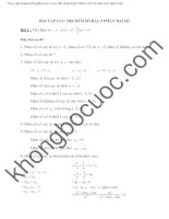 BÀI tập cực TRỊ hàm số bậc 3 PHẦN đại số