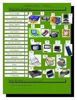 3605 vocabulary matching worksheet  electronics