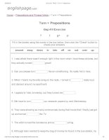 ENGLISH PAGE   turn + prepositions