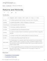 ENGLISH PAGE   returns and refunds