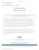 Articles exercise 22