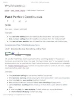 ENGLISH PAGE   past perfect continuous