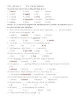 Bài tập tiếng anh lớp 12 Unit 3: Ways of Socialising