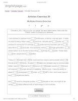 Articles exercise 29