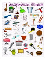 62085 household items picture dictionary
