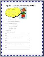 1245 question words worksheet