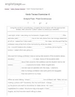 ENGLISH PAGE   verb tense exercise 4