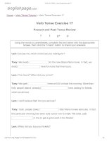 ENGLISH PAGE   verb tense exercise 17