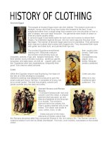 9099 history of clothing