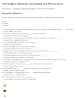 Opposite adjectives   free english grammar, vocabulary and phrase tests