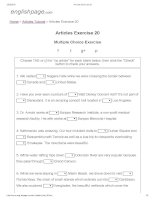 Articles exercise 20