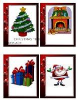 36747 christmas flashcards