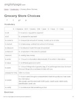 ENGLISH PAGE   grocery store choices