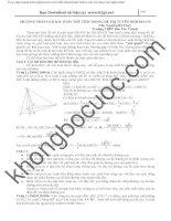 Phương pháp giải các bài toán thể tích trong đề thi tuyển sinh