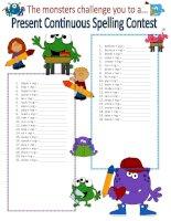 61356 present continuous spelling contest