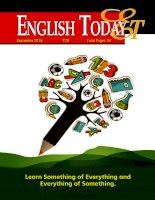 Sách luyện thi tiếng anh_English today  september 2016