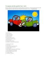 Từ vựng theo chủ đề trong đề thi toeic   lái xe
