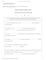 ENGLISH PAGE   verb tense practice test