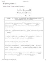 Articles exercise 25