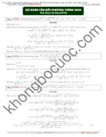 Dự đoán bất phương trình trong đề thi đại học free