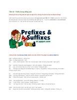 Tiền tố   prefix trong tiếng anh