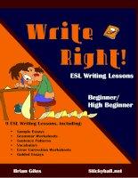 Write right ESL writing lesson beginner high beginner