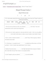 ENGLISH PAGE   mixed phrasal verbs 1