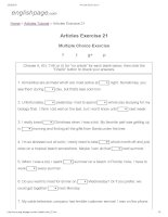 Articles exercise 21