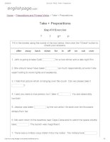 ENGLISH PAGE   take + prepositions